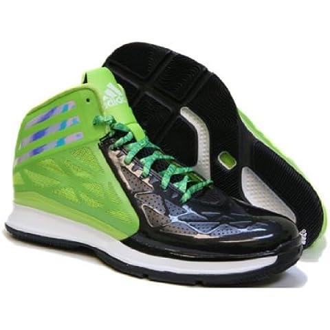 Nueva Adidas loca de los zapatos de baloncesto Fast 2 Negro / solar limo 8