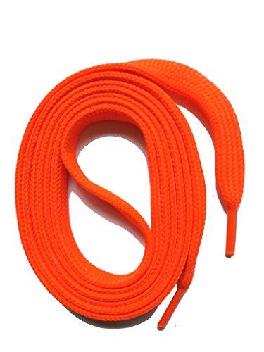 SNORS flache Schnürsenkel NEON ROT 180cm lang, 7-8mm, reißfest, Polyester, Made in Germany für Chucks, Stiefel, Stiefeletten - ÖkoTex