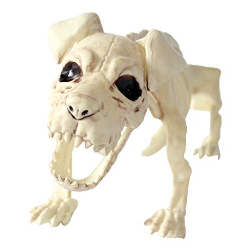Kostüm Hyäne - Oyedens Hundeskelett, Halloween-Horrordekorationsstützen Halloween Hyäne Requisiten Tierknochen Party Shop Dekoration Horror