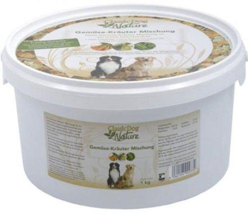 Deli Nature Classic Gemüse-Kräuter-Mischung 1kg Hunde Ergänzungsfutter BARF