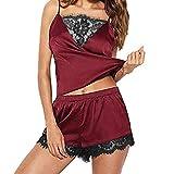 Beikoard Sexy Dessous,Damen Sexy ErotikFrauen Nachtwäsche Ärmellos Strap Nightwear Pyjama-Sets aus Satin mit Spitzenbesatz Sexspielzeug Für Frauen