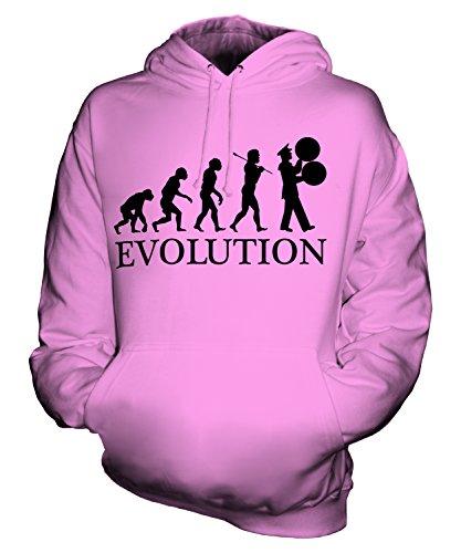 Candymix Marching Band Spielmannszug Evolution Des Menschen Unisex Herren Damen Kapuzenpullover, Größe 2X-Large, Farbe Rosa