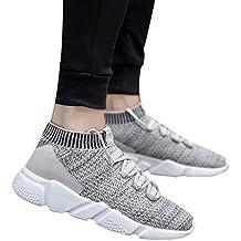 Bestow Zapatillas de Deporte para Hombre de Malla Transpirable con Forma de Malla para Hombre Zapatillas