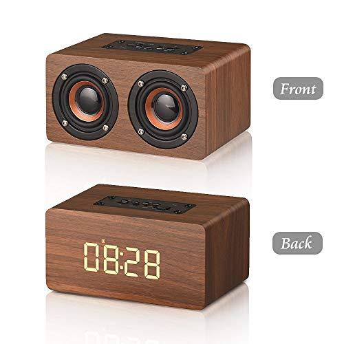 Da-upup Vintage Radio Portable, Drahtloser tragbarer Lautsprecher mit Lautsprechern, lautem Stereo-Wecker, kompatibel mit iPhone, Samsung