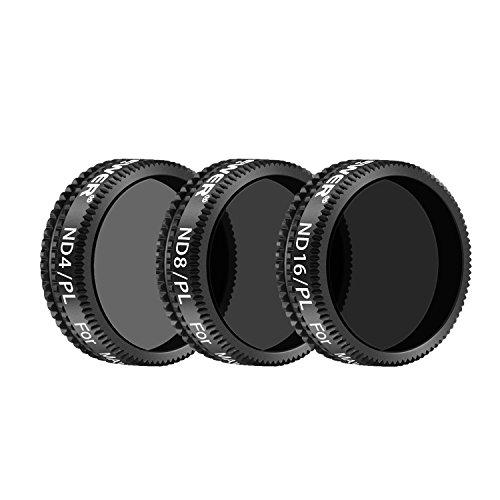 Neewer Filter Set für DJI Mavic Air: ND4/PL, ND8/PL, ND16/PL Filter, Hergestellt aus Mehrfachbeschichteten wasserdichten Aluminiumlegierung Rahmen Optischen Glas (Schwarz) (ND4/PL+ND8/PL+ND16/PL) High-definition-video-filter