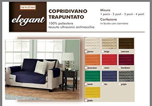 Copridivano/salvadivano trapuntato imbottito, traspirante, reversibile doubleface copertura divano (blu, 2 posti)
