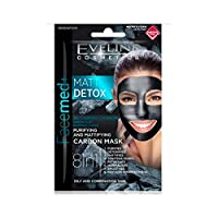 Eveline FaceMed + Cleansing Mattifying Carbon Mask 8in1 Mat Detox 2x5ml