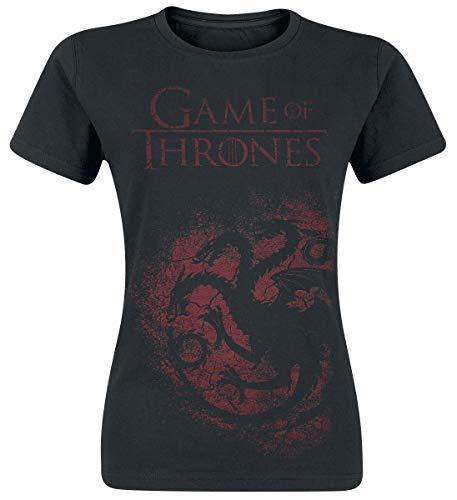 Game of Thrones House Targaryen T-Shirt schwarz L