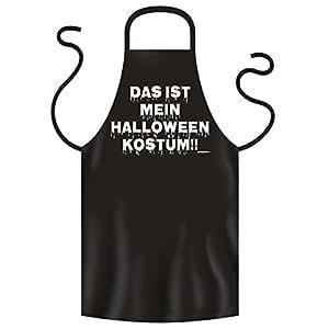 Halloween Grillschürze <-> Halloween Kostüm <-> gruseliges Mitbringsel zum Grillen, Goodman Design®Schwarz