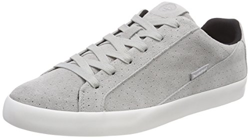 hummel Unisex-Erwachsene Cross Court Suede Sneaker, Grau (Alloy), 37 EU -