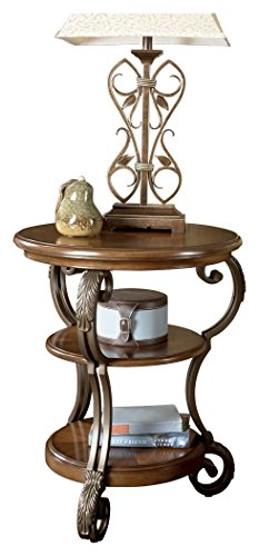 Signature Design by Ashley Traditional Medium Brown Nestor Chair Side End Table
