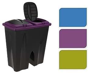 Abfalleimer Mülleimer Duo Bin 2x25 Liter, Farbe:Grün