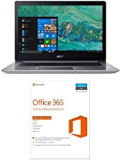 "Acer Notebook Swift 3 SF314-52-552X Processore Intel Core i5-8250U, RAM 8GB DDR4, 256GB Intel PCIe SSD, Windows 10, Display 14"" FHD IPS LCD + Microsoft Office 365 Home [5 PC/1 anno] (Versione 2016)"