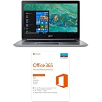 "Acer Notebook Swift 3 SF314-52-552X Processore Intel Core i5-8250U, RAM 8GB DDR4, 256GB Intel PCIe SSD, Windows 10, Display 14"" FHD IPS LCD + Microsoft Office 365 Home [5 PC/1 anno] (Versione 2016)"