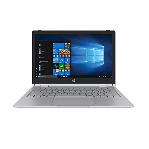 TREKSTOR PRIMEBOOK C11B-CO, Convertible (11,6 Zoll Full-HD IPS Touch Display, Intel Celeron N3350, 4 GB RAM, 32 GB Speicher, Fingerprint, Windows 10 in S-Modus inkl. Office 365) Silber