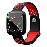 Sunzy Intelligentes Armband Sport-Pedometer, Bluetooth erinnert Herz der Herzfrequenz-Überwachung Wasserdichte Uhr,red