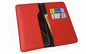 nKarta ™ OD Red Flip Flap Wallet Pouch Mobile Cover Case with Card holder Slots for Xiaomi Redmi