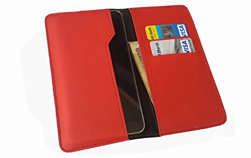 nKarta ™ OD Red Flip Flap Wallet Pouch Mobile Cover Case with Card holder Slots for ZTE Nubia Prague S