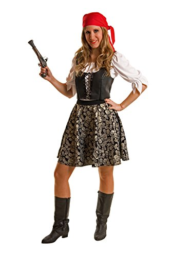 atenbraut (Bluse, Weste, Rock, Bandana) (42/44) (Günstige Damen Piraten Kostüme)