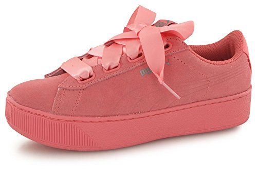 Sneaker Puma Puma Vikky Platform Ribbon S Zapatos Deportivos Mujer Rosa 36641803