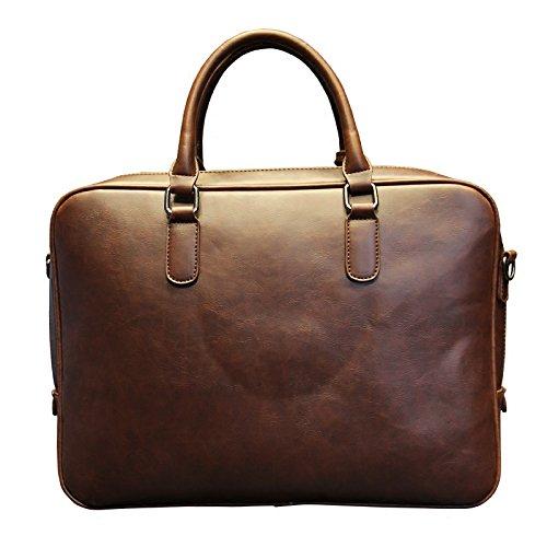 Männer Crazy Horse Pu leder aktentaschen Männliche Braun Business Umhängetaschen große Handtasche Messenger Bag Arbeit Datei Tasche