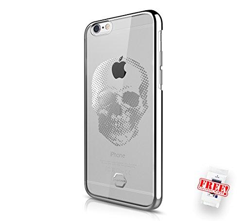 ITSKINS Iphone 6 Plus 6s Plus SPECTRUM Ultradünne Silikon Schutzhülle Transparent KROM Schwarz