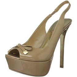 Paris Hilton Linda, Damen Pumps , Weiß - hautfarben - Größe: 6 UK