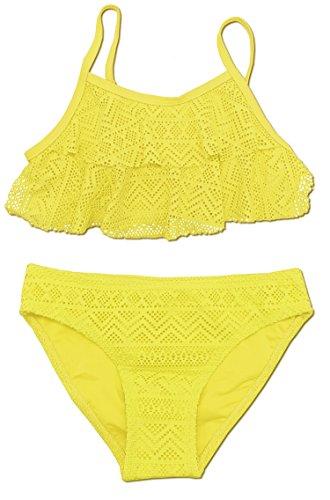 SHEKINI Niñas Niños Dos Pieces Bikini Set Lace Swimsuit