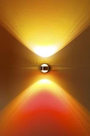 led wandleuchte mit gelbem und rotem farbfilter 2 x 3 watt 300 lumen 3000 kelvin. Black Bedroom Furniture Sets. Home Design Ideas