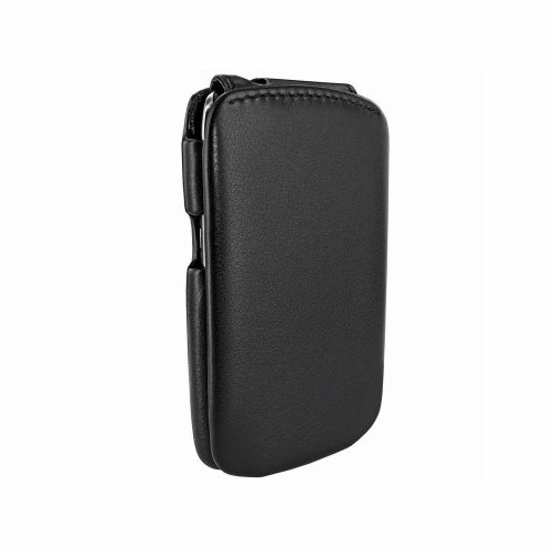 Piel Frama iMagnum Ledertasche mit Magnetverschluss Schwarz für Blackberry Curve 9350/9360/9370 U558