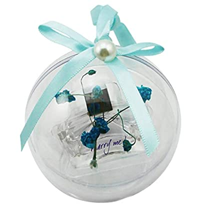 SM-SunniMix-5pcs-DIY-Acrylkugeln-Kunststoffkugeln-Bastelkugeln-Dekokugeln-fr-Weihnachten-Hochzeit-und-Party