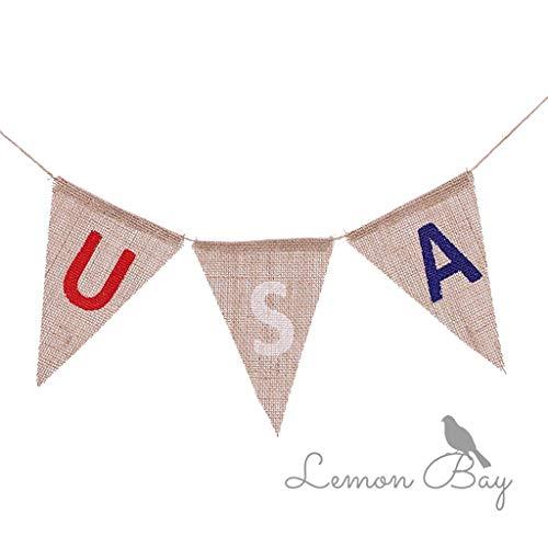 YoungerY Amerikanische Flagge String USA US Bunting Banner Flags 4. Juli Unabhängigkeit National Day Dekoration (Juli Bunting 4.)