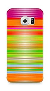 AMEZ designer printed 3d premium high quality back case cover for Samsung Galaxy S6 Edge (abstract paint lines)