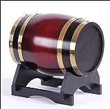 NUNINIKE Secchio Decorativo in Legno Botti di Rovere, Botte di Vino Vintage Botti di Whisky, può Essere Usato per la vinificazione o memorizzazione Birra Vino Brandy Rum (1.5L) Botte Rovere Whisky