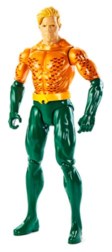 Mattel GDT52 - DC Justice League True-Moves Actionfigur (30 cm) Aquaman, Spielzeug ab 3 Jahren