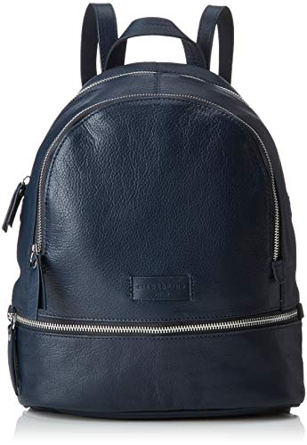 Liebeskind Berlin Damen Essential Lotta Backpack Small Rucksackhandtasche, Blau (Navy Blue) 11x32x26 cm