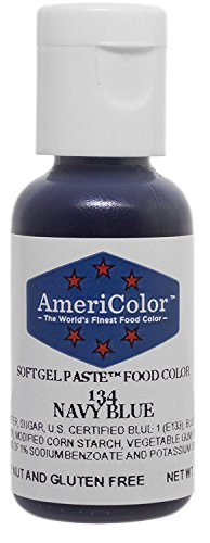 Americolor Soft Gel Paste .75 Oz Navy Blue Color