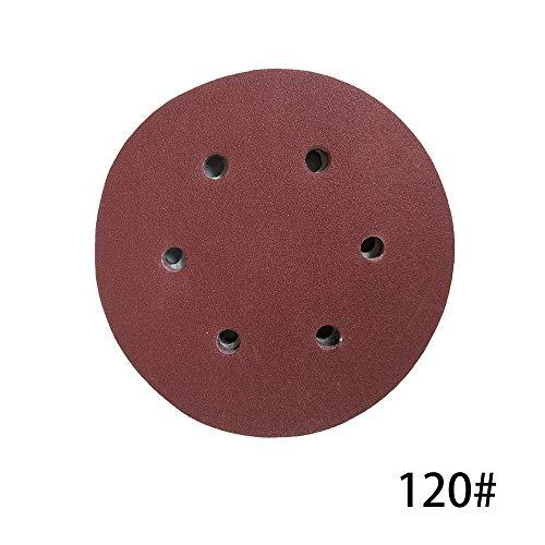Schleifscheiben,100 STÜCKE 125mm Haken Schleife Schleifpapier mit 8 Loch Sand Pads Set 60-1000 Körnung Sander Disc Schleifmittel Werkzeuge für polnische Maschine (Sander 12 Disc Pad)