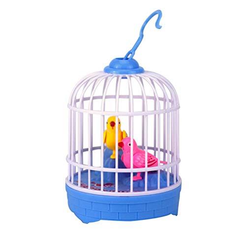 Daxoon Juguete de Peluche Interactivo, Loro parlante parlante con Jaula de pájaros para Control de Voz, los pájaros Pueden agitar Sus Cabezas, Abrir Sus boquillas, agitar Sus alas, Colas y trozos