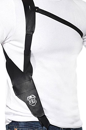 erdbeerclown - Leder Schulter Holster, (Kostüme Pistole Schulter Holster)