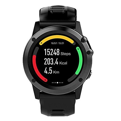 OOLIFENG GPS intelligente Uhr Android-Betriebssystem WiFi Sport Fitness Armbanduhr 5MP Kamera mit IP68 wasserdicht , black
