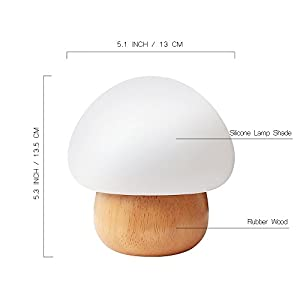 NNIUK Night Light LED Mushroom Lamp Silicone with Wireless Remote Control 16 Different Color for Kid Bedroom - UK Plug by NNIUK
