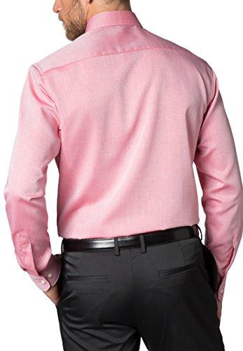 ETERNA long sleeve Shirt MODERN FIT Fancy weave structured Rosso