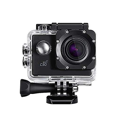 YUN CAMERA@ Action Kamera Wasserdicht 4K WiFi 20MP Sport Video Cam 170 ° Weitwinkel 2 Zoll Bildschirm 98 Fuß Unterwasser Camcorder mit 2 wiederaufladbare 1350mAh Batterien