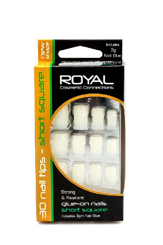 Royal 30 Glue-On Short Square Nails
