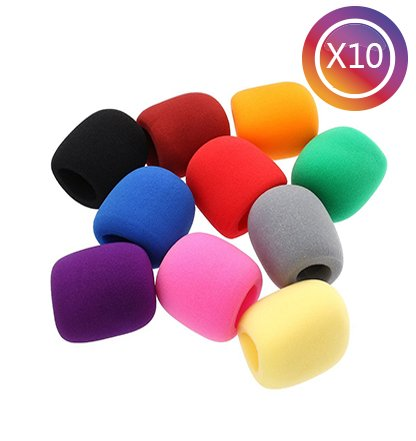 tankerstreet-10-pack-foam-mic-cover-handheld-stage-microphone-headset-windscreen-sponge-skin-assorte