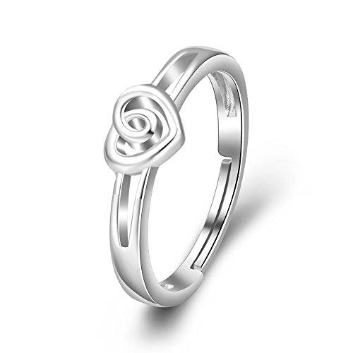 ber Keltischer Knoten Rose Blume Liebe Herz Verstellbar Ringe für Damen (Rose Blume) ()