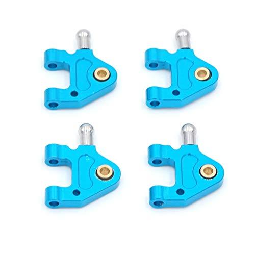 DEtrade Auto Metall Unterarm Upgrade durchführen Zubehör Upgrade Lower Swing Querlenker für WLTOYS K969 / K979 / K989 / K999 / P929 1:28 Auto (Blue)