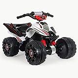 INJUSA - Mercedes Quad ATV a Batteria 12V Autorizzato Consigliato per Bambini +3 Anni con Freno Elettrico e Freno di Retromarcia