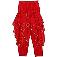 Baile de Halloween Pantalones de Baile Pantalones Árabes para Danza Vientre Fiesta Navidad Ropa Fiesta ( Color : Rojo )